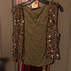 Zara Jeweled Vest